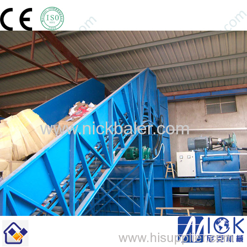 automatic horizontal hay baling press machine