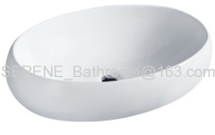 Sanitary ware Ceramic White Color Counter Top Basin
