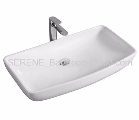 Rectangular Ceramic White Color Counter Top Basin