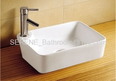 Bathroom Ceramic White Color Above Counter Washbasin