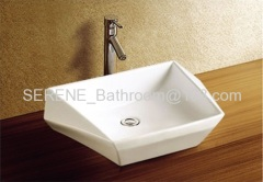 Ceramic White Color popular Counter Top Basin
