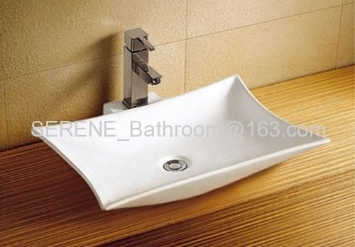 Ceramic White Color Above Counter Basin