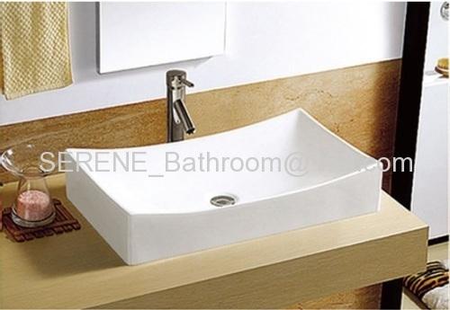 Popular Desgin Ceramic White Color Counter Top Basin