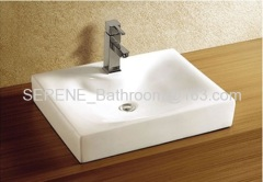 Hot sell Popular Desgin Ceramic White Counter Top Basin