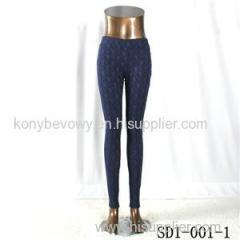 SD1-001-1 Navy Cashew Low-waist Slim Lady Leggings
