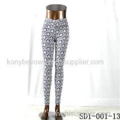 SD1-001-13 Black And White Woven Slim Leggings