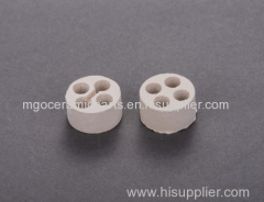four holes Magnesium oxide block