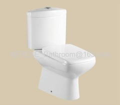 Roca style popular design ceramic white color two piece toilet