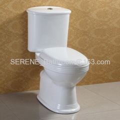 UK style sanitary ware ceramic white color couple closed toilet