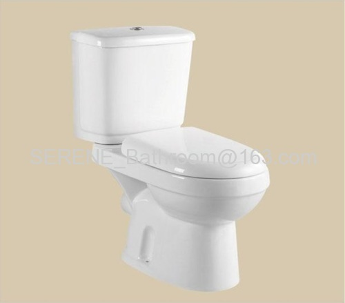 Modern Design Popular Style Sanitary Ware Ceramic White Color Two Piece Toilet