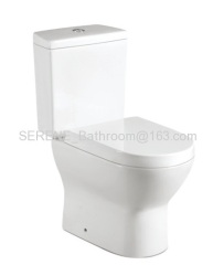 Singapore Style Ceramic White Color Two Piece Toilet
