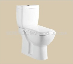 Sanitary ware ceramic whtie color two piece toilet