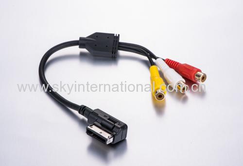 For Audi New AMI MMI 3RCA PHONO Audio Cable 4F0051510AA