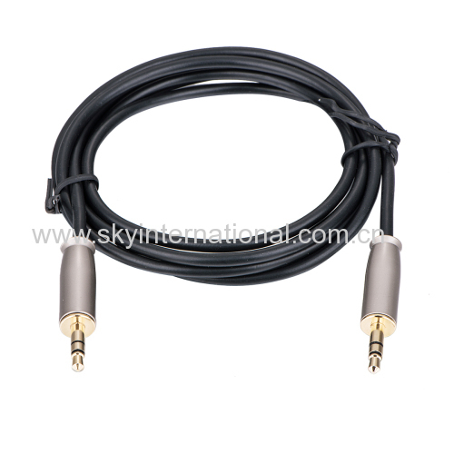AUX CABLE 3.5mm to 3.5mm Stereo Audio Plug male to male 1 meter Metal