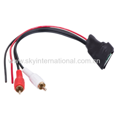 Bluetooth interface with 2RCA input for car radio stereo wireless music play