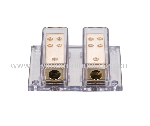 2X4 GAUGE TO 8 X 8 GAUGE POWER/GROUND DISTRIBUTION BLOCK
