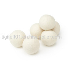 Natural white wool dryer softner balls