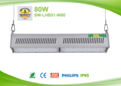 80w Linear LED High Bay Lights for Warehouse Aisle