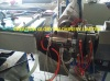 Stable running double layer plastic pipe extrusion line
