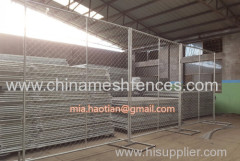 Temporary fence construction site use panel with chain link netting