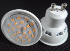 SMD2835 7W GU10 Plastic Led Spot Light Beam 120°