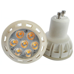 GU10 Plastic 7W Led Spot Light SMD2835 AC100-265V 580Lm