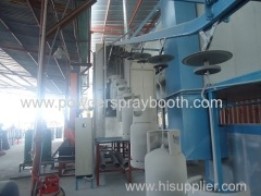 powder coating plant with LPG tank