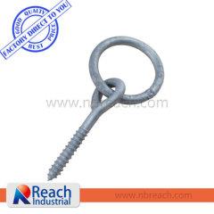 1200 LBS Screw In Gavanized Steel Rope Ring Tie-Down Anchor