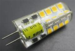 Silicon 3W G4 Led Lamp AC/DC12V Φ15*43mm 220Lm Beam 360°