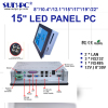 IP65 15 Inch Dual-core Industrial computer Panel PC 4*COM 1*LPT 4*USB 2*Glan