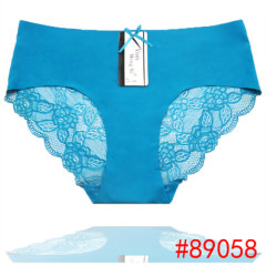 Hot Sale Female Adult Sexy Panties Ice Silk Seamless Sexy Lingerie Lace Trim Underwear
