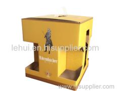 B flauta de ferramentas de papel de embalagem impressa caixas de papelão auto travam uma peça dobrável caixa de papel caixa