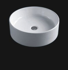 Ceramic white color round counter top art basin