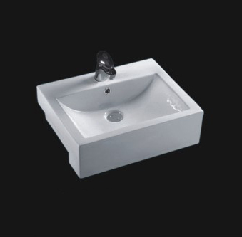 Sanitary ware Ceramic Semi Recessed Art Basin