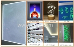 LGP for ads shelf lighting