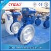 Flangeless Wafer connection triple eccentric metal sealing worm gear operated butterfly valve
