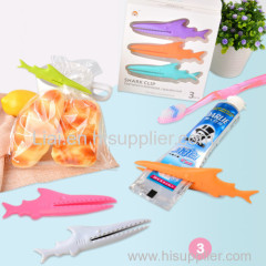 Multi-functional Shark Bag Clips Plastic Sealing Food Clip Seal Clamp Kitchen Accessories