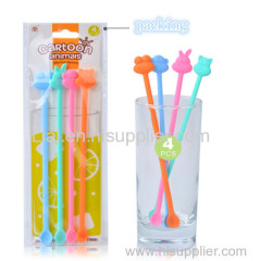 Animal Coffee Stirring Mixing Spoons Plastic Cocktail Drink Mixer Stirrers Martini Smoothie DIY Kitchen Tools Muddler