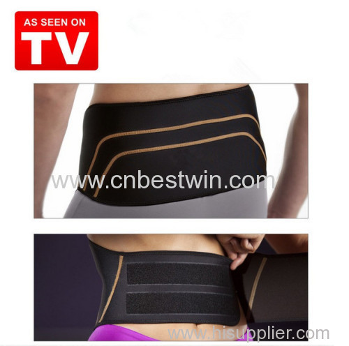 TV hot selling slimming fitness copper back lumbar support belt