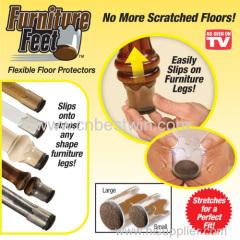 Pés de móveis de silicone flexível Protector Pavimento