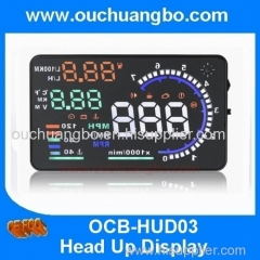 Ouchuangbo 5.5'' OBDII 2 Car HUD Interface Fuel BT Overspeed Warning Head Up Display
