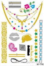 the Metallic jewelry Temporary tattoo sticker