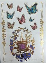 gold foil temporary tattoo sticker white henna lace temporary tattoo sticker the Metallic jewelry Temporary tattoo