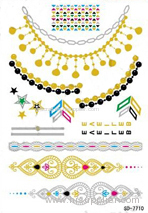 gold foil temporary tattoo sticker white henna lace temporary tattoo sticker