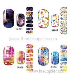2016 hot sale fashionable Eco-friendly water decal nail art stickers water decals nail sticker water nail stickers