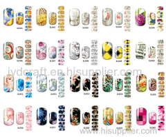 2016 hot sale fashionable Eco-friendly water decal nail art stickers water decals nail sticker