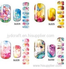 2016 hot sale fashionable Eco-friendly water decal nail art stickers