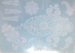 white henna lace temporary tattoo sticker the Metallic jewelry Temporary tattoo sticker