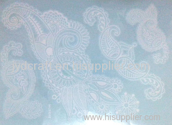 white henna lace temporary tattoo stickers