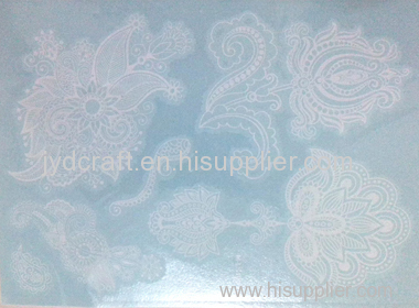 white henna lace temporary tattoo sticker the Metallic jewelry Temporary tattoo sticker Hot Stamping Flash Tattoo stic